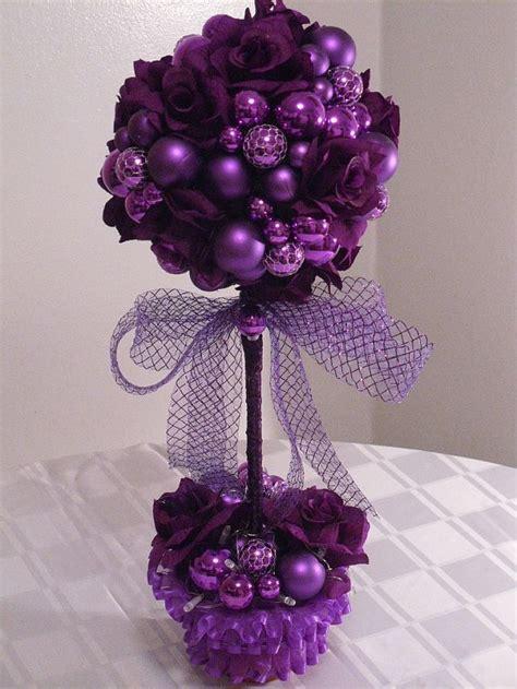 purple passion topiary treestabletop decor centerpiece