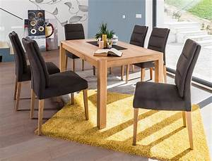 Esstisch 6 Stühle : tischgruppe esstisch karabo xl eiche 6 st hle flavia 3 zeus braun wohnbereiche esszimmer ~ Eleganceandgraceweddings.com Haus und Dekorationen
