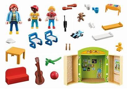 Playmobil Kindergarten Preschool Spielbox Play Coffre Garderie