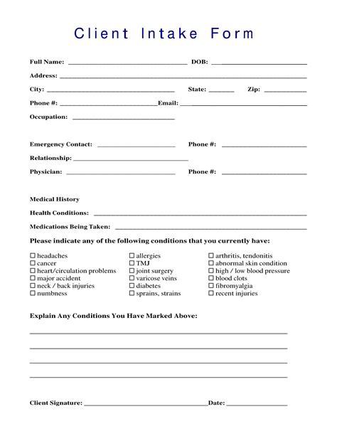 intake form 13 client intake forms pdf doc