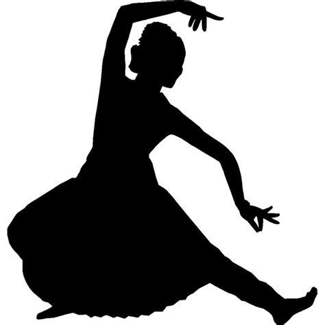 Classical dance clipart black and white