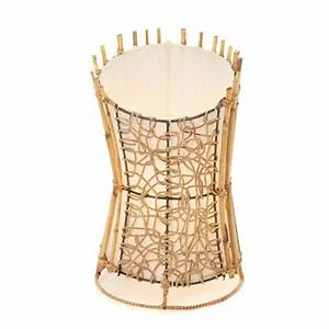 Round rattan and wicker floor lamp top cut 100cm clear for Floor lamp 100cm