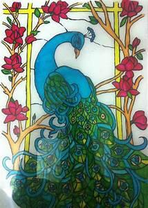 Monde, Cr, U00e9atif, Reverse, Glass, Painting