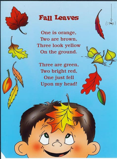 Fall Harvest Poems For Preschoolers  Blog Archive Fall