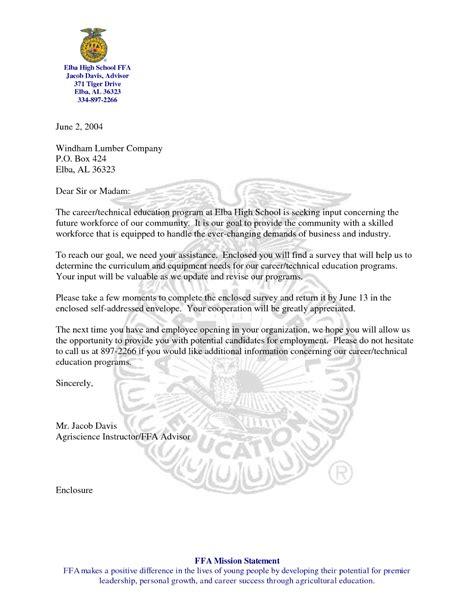 ffa cover letter cover letter