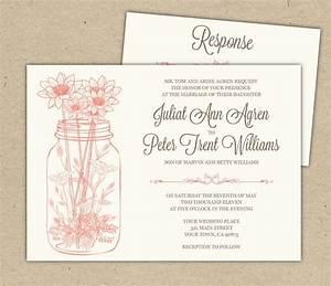 free printable bridal shower invitations wedding With mason jar wedding invitations free download
