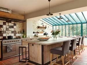 decoration cuisine veranda With charming photo amenagement terrasse exterieur 14 deco salon et cuisine ouverte