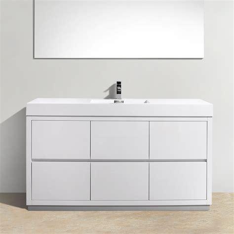 Free Standing Bathroom Vanity Ideas by Kube Bath Bliss 60 Quot Single Free Standing Modern Bathroom
