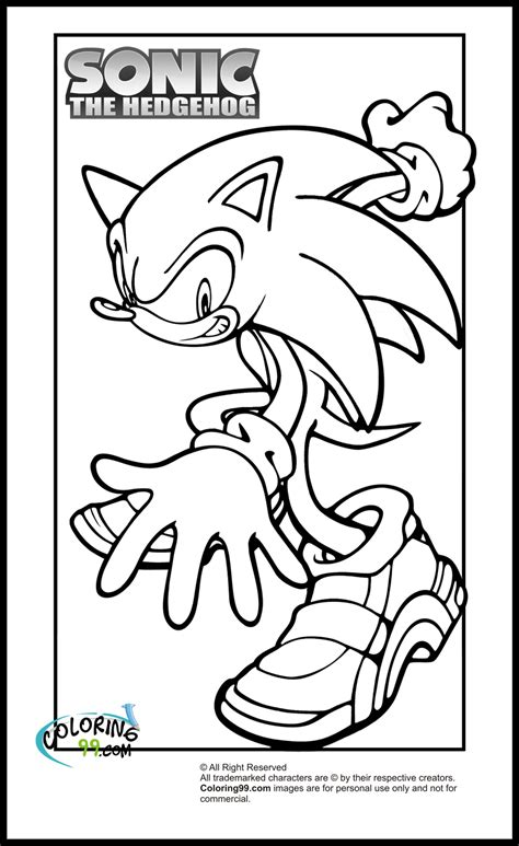 Printable sonic coloring page to print and color for free. Sonic Coloring Pages   Team colors