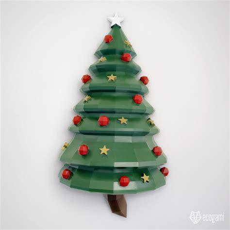 papercraft christmas tree diy wall