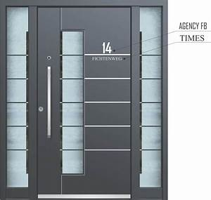 Hausnummer Ral 7016 : hausnummer aluminium haust ren inotherm ~ Frokenaadalensverden.com Haus und Dekorationen