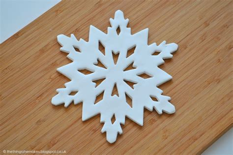 large clay snowflake decoration