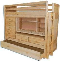 building plans for bunk bed with desk 187 woodworktips