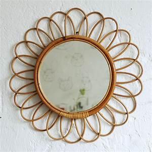 Miroir En Rotin : miroir rotin vintage forme fleur atelier du petit parc ~ Nature-et-papiers.com Idées de Décoration