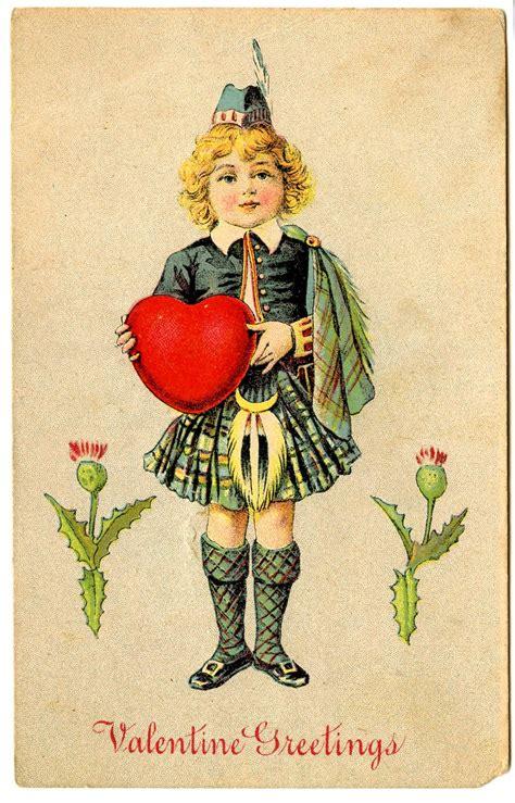 valentines day clip art vintage postcards