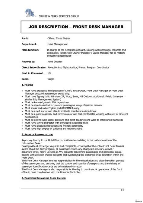 Front Desk Description For Resume by Hotel Front Desk Description Redesign And Price