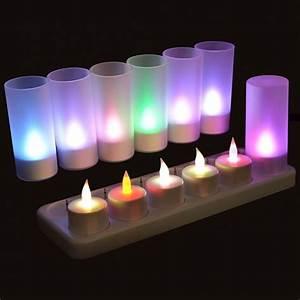 Plateau Pour Bougie : plateau 12 bougies led changement de couleurs lux et d co ~ Teatrodelosmanantiales.com Idées de Décoration