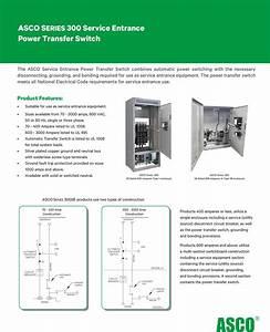 Asco Series 300 Service Entrance Power Transfer Switch
