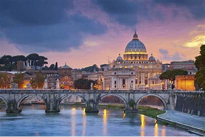 Rome Vatican Italy Church Trees Building Cathedral