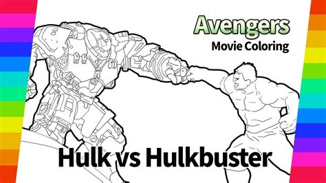 the avengers coloring pages hulk vs hulkbuster movie
