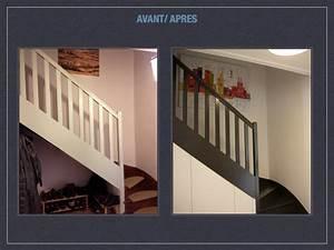 revgercom photos escalier peint 2 couleurs idee With charming peindre un escalier en blanc 3 les 25 meilleures idees concernant escaliers peints sur