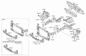 2018 Kia Sportage Fender Apron  U0026 Radiator Support Panel
