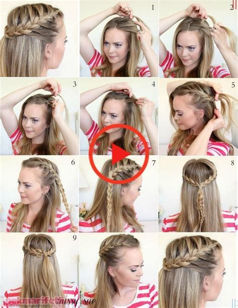 Home Easy Half Herringbone Hairdressing Pictorial