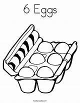 Coloring Eggs Six Egg Carton Worksheet Sheet Clipart Empty Outline Dozen Easter California Noodle Twistynoodle Cooking Built Usa Login Favorites sketch template
