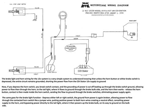 Motobecane Wiring Diagrams Moped Wiki