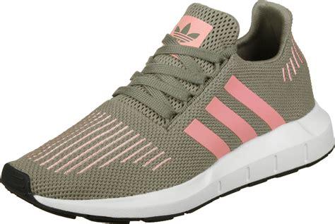 Adidas Swift Run W Shoes Green Pink White