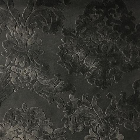Velvet Drapery Fabric - florence palace burnout velvet home decor damask