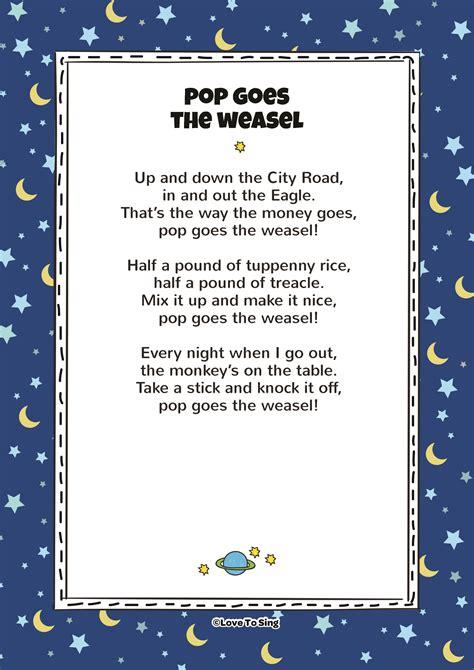 pop   weasel nursery rhymes kids video songs