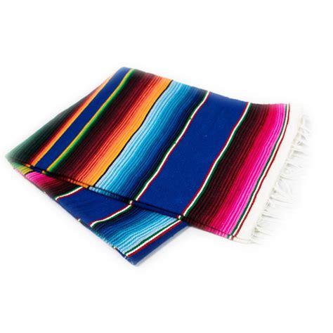 Mexikanische Decke  Serape Blau Superskull