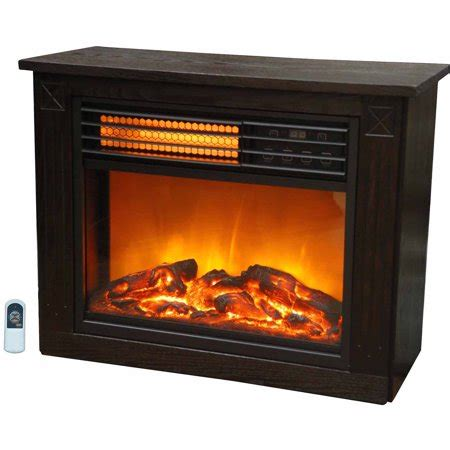 electric fireplace heater walmart lifezone compact infrared electric space heater fireplace