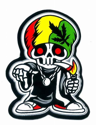 Weed Rasta Reggae 420 Sticker Decal Cartoon