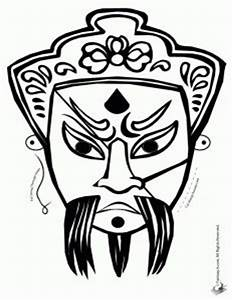 1000 images about chinese masks on pinterest chinese With kabuki mask template