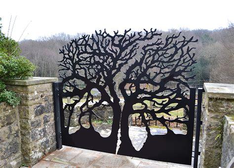 modern iron doors modern laser cut metal garden gates i custom designs