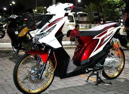 Modifikasi Cat Ebras Motor Beat Pop by Gaya Modifikasi Motor Honda Beat Terbaru