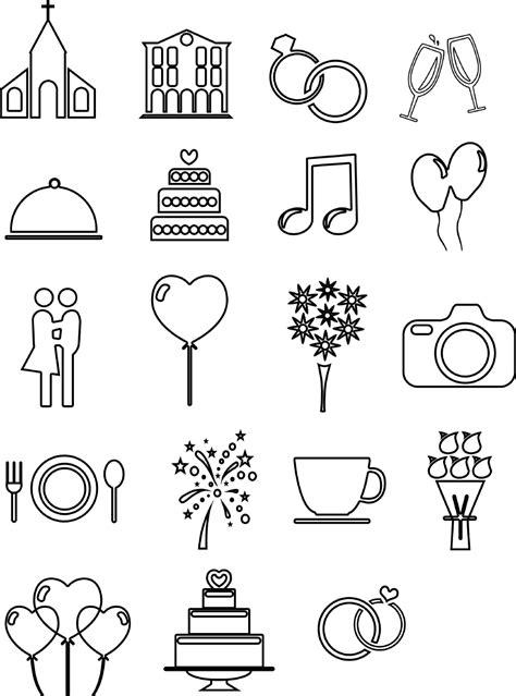 hochzeits icons und vorlagen fuer euren ablaufplan timeline