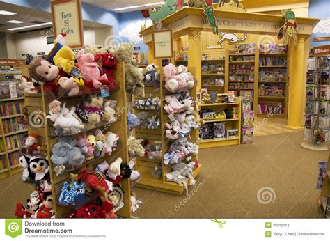 and noble toys toys and books in children bookstore editorial stock photo