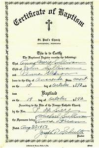 my trails into the past church record sunday baptism of With catholic baptism certificate template