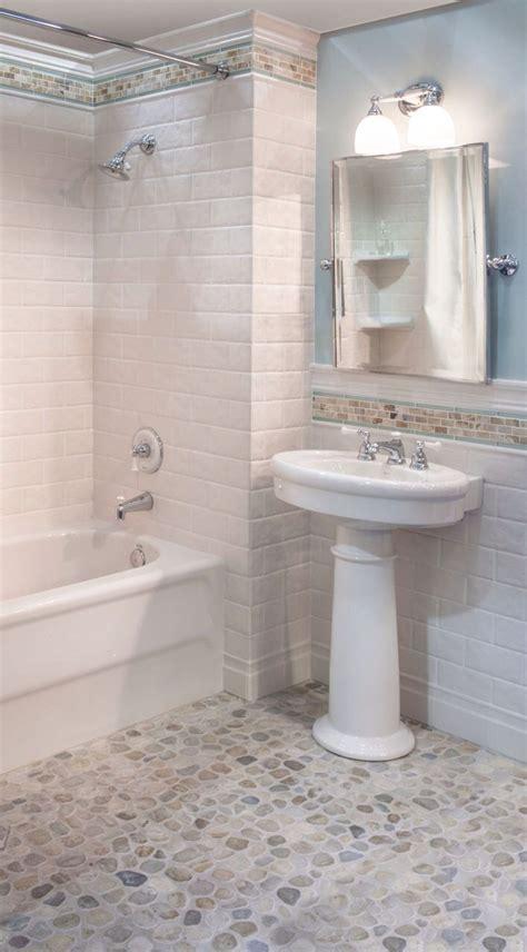 Pebble Tile Bathroom Ideas by Sea Green And White Pebble Tile In 2019 Bathroom Heaven