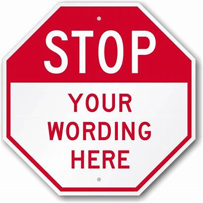 Stop Sign Signs Clip Clipart Template Custom