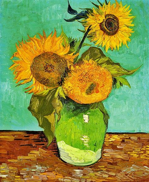 Sunflowers Vincent Van Gogh 1888 Vincent Van Gogh