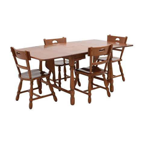 maple dining table set 83 off maple dining table with four matching chairs