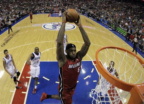 LeBron James holds 1-man dunk contest after Miami Heat ...