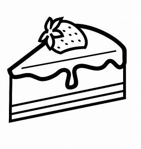 Free cake slice coloring pages