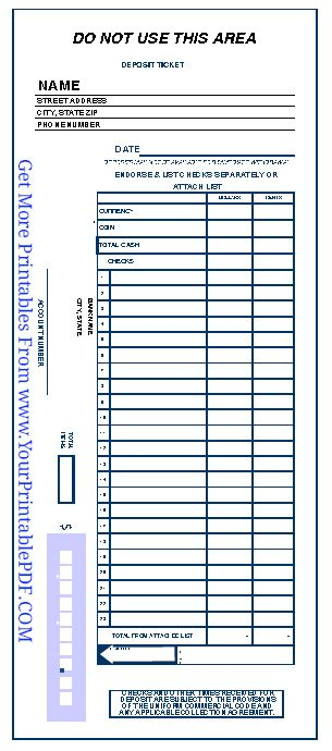 checking deposit slip template 5 free deposit slip templates small business resource portal