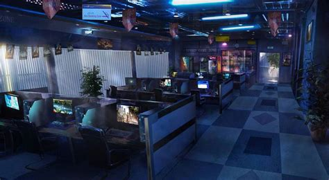 internet cafe cyber cafe interior cyber cafe game cafe
