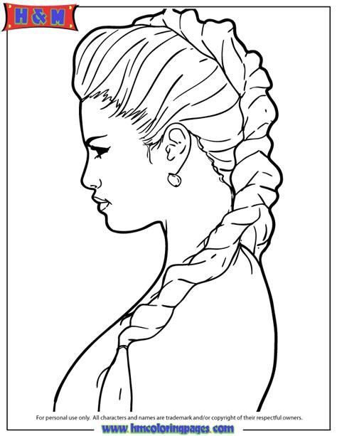 selena gomez elegant hair style coloring page